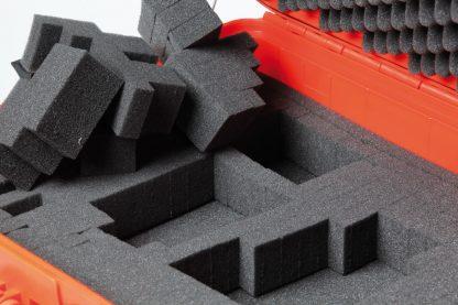mousse prédécoupée en cubes