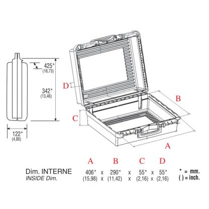 dimensions valise vexi 43