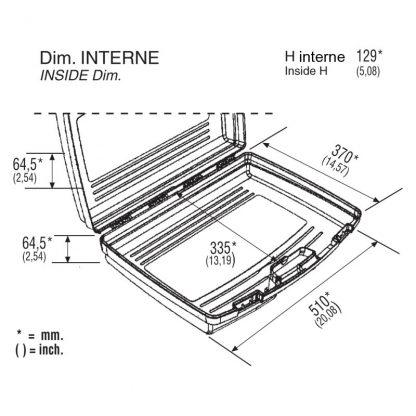 dimensions valise noire 51