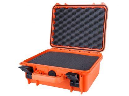 valise orange avec mousse