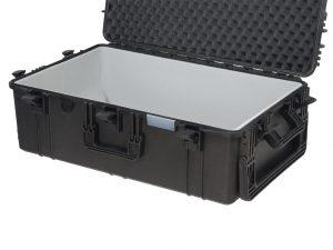 valise avec parois mousse grise