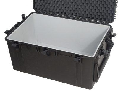 valise avec mousse grise