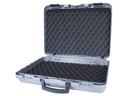 valise grise 48 avec mousse a bosselage